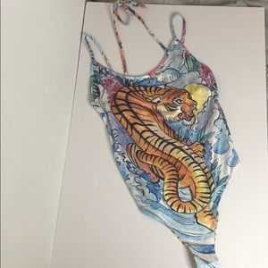 Topshop Tiger Bathing suit